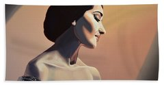 Maria Callas Painting Bath Towel