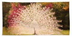 Maria's White Peacock Hand Towel