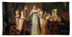 Marie-louise Of Austria Bidding Farewell To Her Family In Vienna Bath Towel