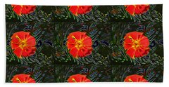 Bath Towel featuring the photograph Marigold Mighty by Kathy Bassett