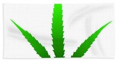 Marijuana Leaf Hand Towel