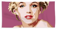 Marilyn Hand Towel by Douglas Simonson
