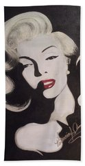 Marilyn In The Moonlight Bath Towel