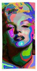 Marilyn Monroe - Abstract 1 Hand Towel