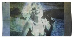 Marilyn Monroe At The Beach Bath Towel