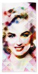Marilyn Monroe Pastel Hand Towel