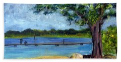 Marina At Ocean Inlet In  Boynton Beach Bath Towel by Donna Walsh