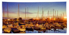 Marina Sunrise Hand Towel
