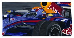 Mark Webber R B R Charging 2008  Hand Towel