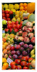 Hand Towel featuring the photograph Market Time II by Sue Melvin