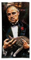 Marlon Brando The Godfather Bath Towel