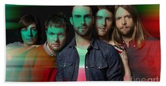 Maroon 5 Painting Bath Towel by Marvin Blaine