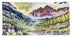 Maroon Bells  Hand Towel by Scott and Dixie Wiley