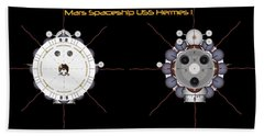 Mars Spaceship Hermes1 Front And Rear Hand Towel