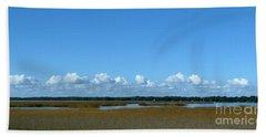 Marsh In Panacea Florida Hand Towel