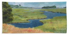 Marshes At High Tide Bath Towel