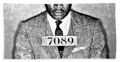 Martin Luther King Mugshot Bath Towel