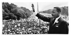 Martin Luther King The Great March On Washington Lincoln Memorial August 28 1963-2014 Hand Towel
