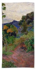 Martinique Landscape, 1887 Oil On Canvas Hand Towel