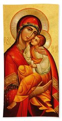 Mary The God Bearer Bath Towel