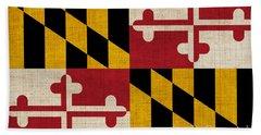 Maryland State Flag Bath Towel