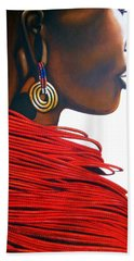 Masai Bride - Original Artwork Hand Towel