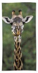 Masai Giraffe Serengeti Np Hand Towel by Konrad Wothe