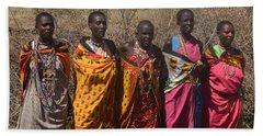 Masai Women Chorus Hand Towel by Tom Wurl