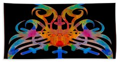 Masking Reality Abstract Shapes Artwork Hand Towel