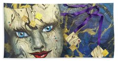 Masquerade Blues Bath Towel