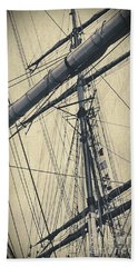 Mast And Rigging Postcard Bath Towel