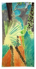 Matisse's Palm Leaf In Tangier Bath Towel by Cora Wandel