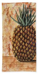 Hand Towel featuring the painting Maui Pineapple by Darice Machel McGuire