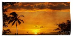 Maui Sunset Dream Hand Towel by Peggy Hughes