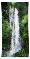 Maui Waterfall Bath Towel by Susan Kinney
