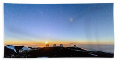 Mauna Kea Moonset 1 Bath Towel