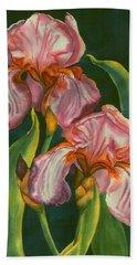 Mauve Irises Bath Towel