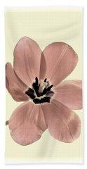 Mauve Tulip Transparency Hand Towel