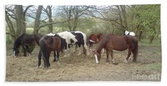 Bath Towel featuring the photograph May Hill Ponies 3 by John Williams