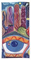 May You Realize Your Dreams Hand Towel by Helena Tiainen