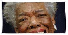 Maya Angelou Portrait Bath Towel