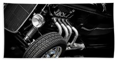 Hot Rod Hand Towel featuring the photograph Mean Machine Classic by Aaron Berg