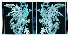 Mech Dragons Diamond Ice Crystals Bath Towel