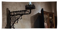 Medieval Candelabra Hand Towel by Yvonne Wright