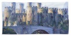 Medieval Conwy Castle.  Hand Towel