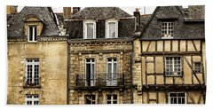 Medieval Houses In Vannes Bath Towel