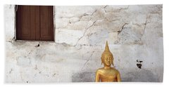Meditation In Laos Hand Towel