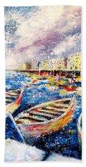 Mediterranean Port Colours Hand Towel