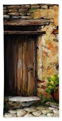 Mediterranean Portal Hand Towel by Emerico Imre Toth