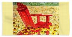 Meet Me In The Meadow Hand Towel by Angela Davies